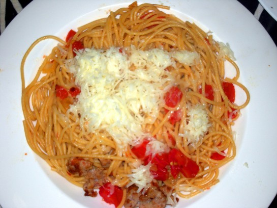Spaghetti all'Amatriciana (sort of)